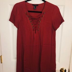 Forever 21 Rust Open Front Dress
